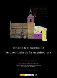 III Curso de Especialización Arqueología de la arquitectura
