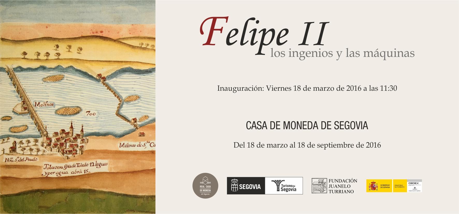 Felipe II. Los ingenios y las máquinas. Exposición