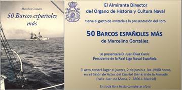 50 barcos españoles más. Presentación de libro