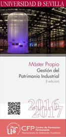 Master course, Gestión del Patrimonio Industrial [Managing the industrial heritage]. Pre-registration dates