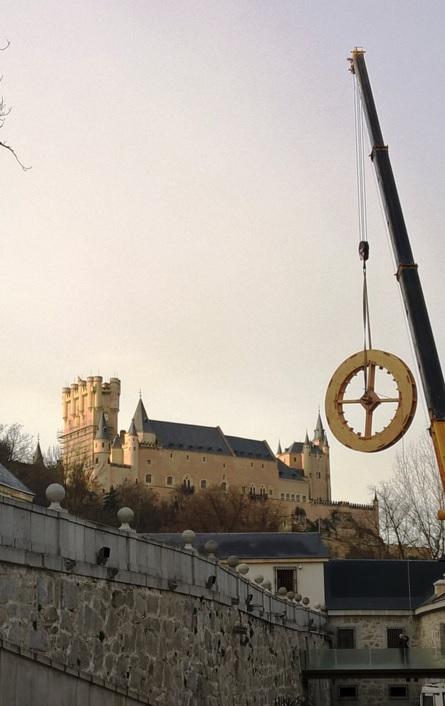 Royal Mint Museum, Segovia. New waterwheel