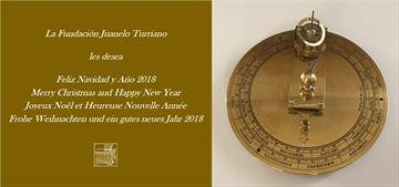 Fundación Juanelo Turriano wishes you a merry Christmas and a happy 2018