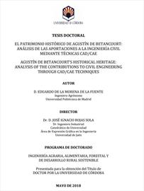 El patrimonio histórico de Agustín de Betancourt. Tesis doctoral