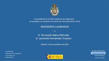 Fernando Sáenz Ridruejo. Ingeniero Laureado