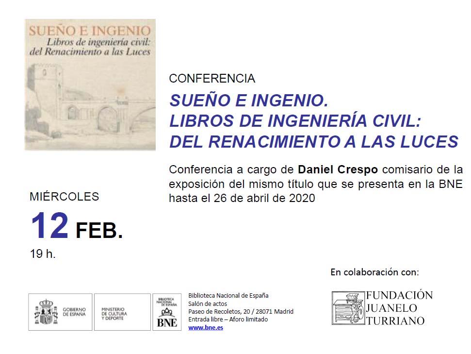 Conferencia Sueño e ingenio. Libros de ingeniería civil: del Renacimiento a las Luces