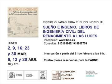 Sueño e Ingenio. Guided tours at the National Library