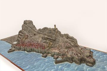 Pieza destacada: Maqueta de la Plaza y Peñón de Gibraltar